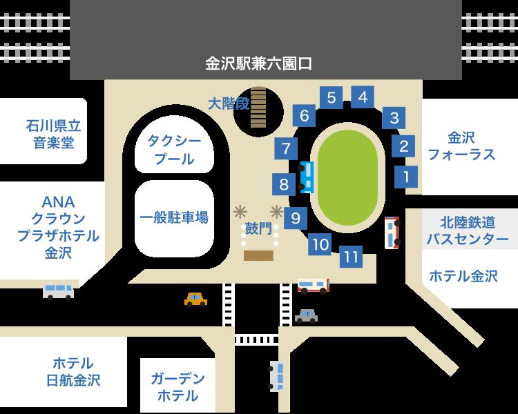 金沢駅から